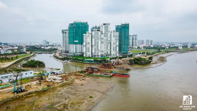 Dự án cầu qua đảo Kim Cương, quận 2 nằm trên tuyến đường ven sông Sài Gòn sẽ kết nối khu đô thị mới Thủ Thiêm và khu dân cư Thạnh Mỹ Lợi vừa được TP.HCM khởi công ngày 7/9/2017.