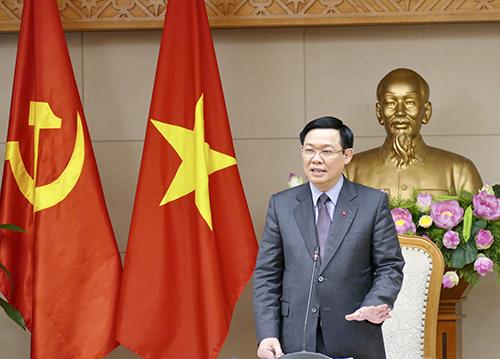 Phó thủ tướng Vương Đình Huệ một lần nữa khẩng định quan điểm Chính phủ không dùng tiền ngân sách cứu các dự án thua lỗ nghìn tỷ ngành Công Thương. Ảnh: VGP